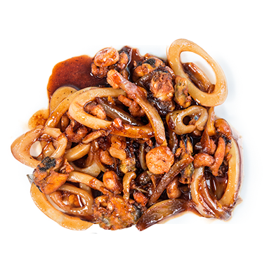Морепродукты в соусе терияки с овощами [+$3.65]
