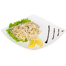 Picture of Спагетти с лососем в сливочном соусе